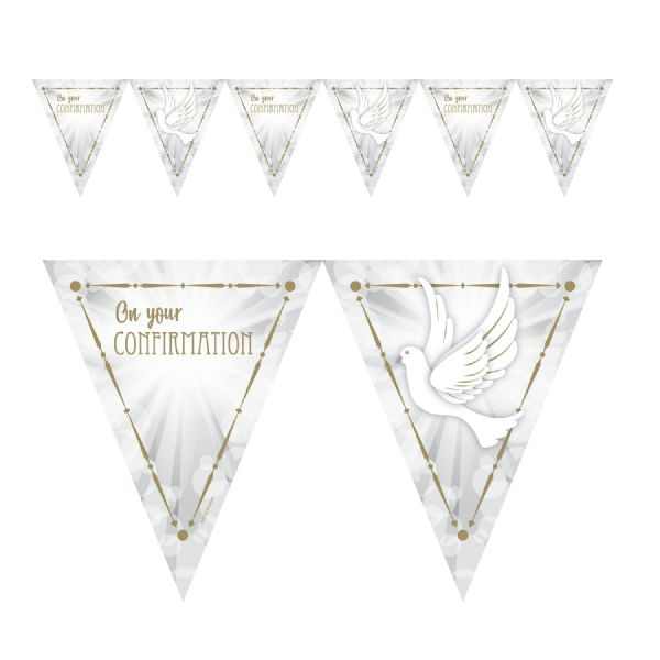 Confirmation Dove Pennant Banner